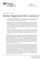 Better Baghdad-KRG relations? cover image