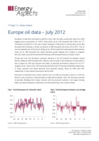 Europe oil data – July 2012 cover image