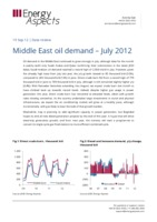 Middle East oil demand – July 2012 cover image