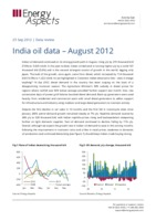 India oil data – August 2012 cover image