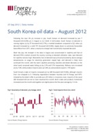 South Korea oil data - August 2012 cover image