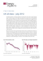 UK oil data – July 2012 cover image