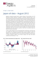 Japan oil data – August 2012 cover image