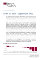 OPEC oil data – September 2012 cover image