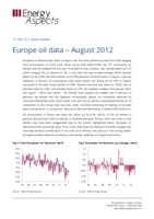 Europe oil data – August 2012 cover image