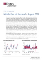 Middle East oil demand – August 2012 cover image