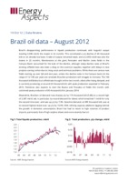 Brazil oil data – August 2012 cover image