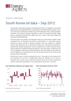 South Korea oil data – Sep 2012 cover image