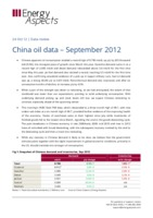 China oil data – September 2012 cover image