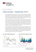India oil data – September 2012 cover image