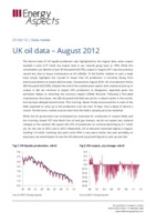 UK oil data – August 2012 cover image
