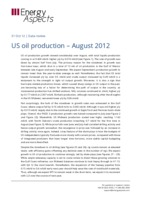 US oil production – August 2012 cover image