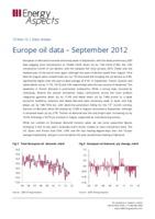 Europe oil data – September 2012 cover image