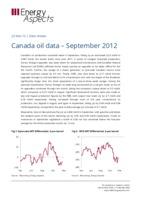 Canada oil data – September 2012 cover image