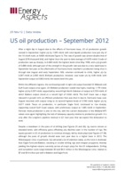 US oil production – September 2012 cover image