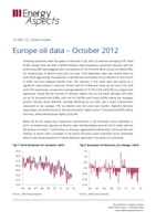 Europe oil data – October 2012 cover image