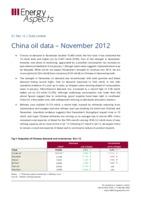 China oil data – November 2012 cover image