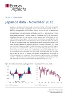 Japan oil data - November 2012 cover
