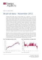 Brazil oil data – November 2012 cover image
