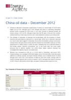 China oil data – December 2012 cover image