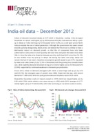 India oil data – December 2012 cover image
