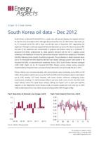 South Korea oil data – Dec 2012 cover image