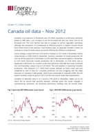 Canada oil data – November 2012 cover image