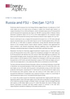 Russia and FSU – Dec 2012/Jan 2013 cover image