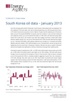 South Korea oil data – January 2013 cover image