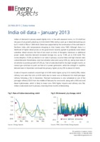India oil data – January 2013 cover image
