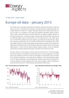 Europe oil data - January 2013 cover image