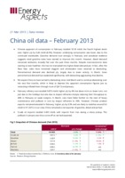 China oil data – February 2013 cover image
