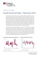 South Korea oil data – February 2013 cover image