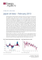 Japan oil data – February 2013 cover image