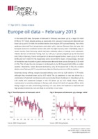 Europe oil data – February 2013 cover image