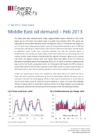 Middle East oil demand – Feb 2013 cover image