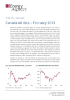 Canada oil data – February 2013 cover image