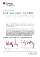 South Korea oil data – March 2013 cover image