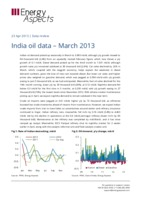 India oil data – March 2013 cover image