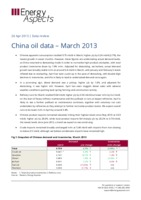 China oil data – March 2013 cover image