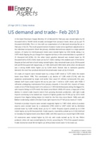US demand and trade - Feb 2013 cover image