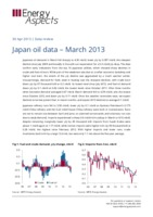Japan oil data – March 2013 cover image