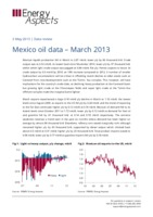 Mexico oil data – March 2013 cover