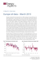 Europe oil data – March 2013 cover image