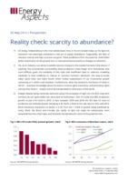 Reality check - scarcity to abundance? cover image