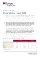 China oil data – April 2013 cover image