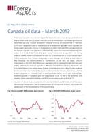 Canada oil data – March 2013 cover image