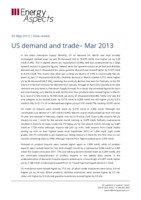 US demand and trade– Mar 2013 cover image