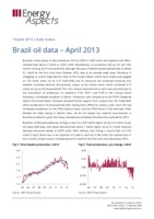 Brazil oil data – April 2013 cover image