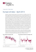Europe oil data – April 2013 cover image